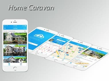 Home Caravan  App integrated with Google map. App developed from scratch.  So user can search and buy caravan. App also has calendar function and user can search items according to condition.