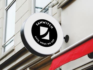 Samwitch is a local food stall selling sandwiches in Singapore. Realizing that a great visual would help them stand out, they decided to rebrand their image with a new logo. My task was to design it.  This brand was highly product-oriented. That's why the client requested me to depict a sandwich in the design, as they already had a sketch.   I made two logo ideas: one depicting a diagonally cut sandwich with thick texture lines, and one based on the shape of a letter 'S' to represent their name. They didn't like either of these. That's when I made what you see here, a new and improved icon that was ultimately approved.  It wasn't that easy, though. The client asked for countless revisions and wanted to experiment a lot. I am happy with that, because, in the end, we discovered a great solution.   After finishing the logo, I put together a professional brand style guide. It included rules and recommendations about how the logo should be used correctly and to ensure it always looks good.