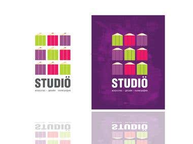 Fresh and simple logo for young art studio.