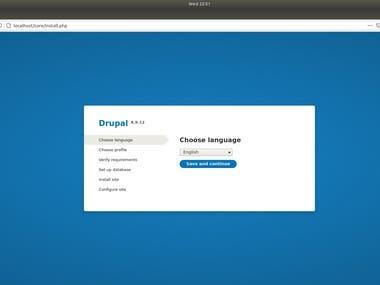 If you need complete Drupal CMS setup, ping me on below contacts: Telegram: linuxlinked email: linuxlinked@gmail.com WhatsApp: +8801720903155 Skype:live:.cid.c0dc316b9d727d5e YouTube: https://youtu.be/0RW9TtQ5wEs  Checkout my GitHub gist for Drupal CMS installation: https://gist.github.com/LinuxlinkedBD/4cb86d6f65528d8bc79fc679e89b7457
