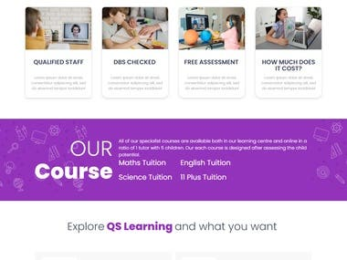 QSlearning/Virtual classroom is a platform that enable tutor/student to carry on their education virtually from their homes.  In 2019-2021, it become very much important to empower parents to not to worry about their children education or schooling while lock down. This awesome platform has following panels. 1.	Public website to take Free assessments (qslearning.co.uk) 2.	Admin panel 3.	Tutor panel 4.	Student panel Technology stack we used: •	Laravel •	VueJS •	Bootstrap •	Mysql •	Adobe photoshop