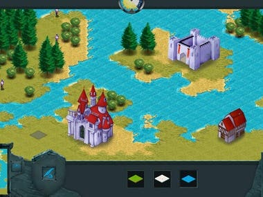 an isometric strategic game with multiplayer capability. similar to Age of Empires III