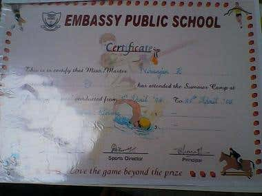 Topped the G.K exam in junior school and learnt horse riding in high school
