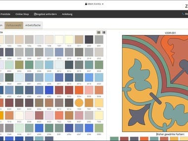 A user can configure the tiles he wants, and order the products.