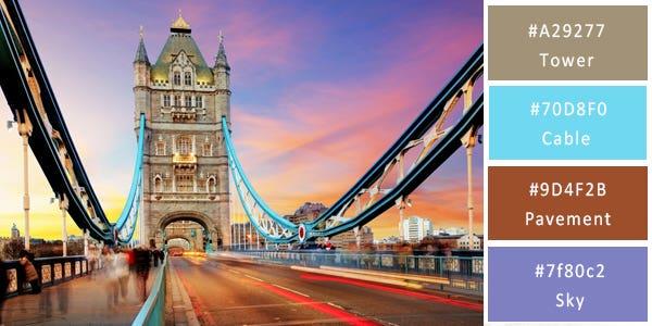 contrast color combination - bridge