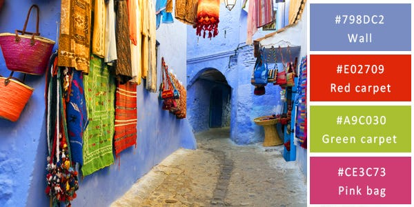 rich color combination - morocco