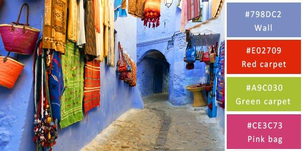 rich color combination - morocco