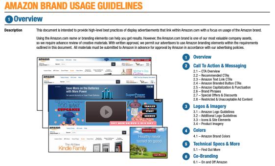 amazon brand guidelines
