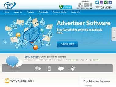 Zauss Technology's site developed by me.