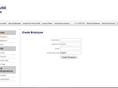 I worked on fyifuse.com where I have to add employee panel and admin panel. In this admin can create his employee.