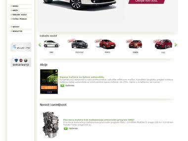 Exclusive importer Fiat, Alfa Romeo and Lancia cars for Croatia  http://www.fiat.hr  - cms - php - mysql - flash implementation - banner programme - web design