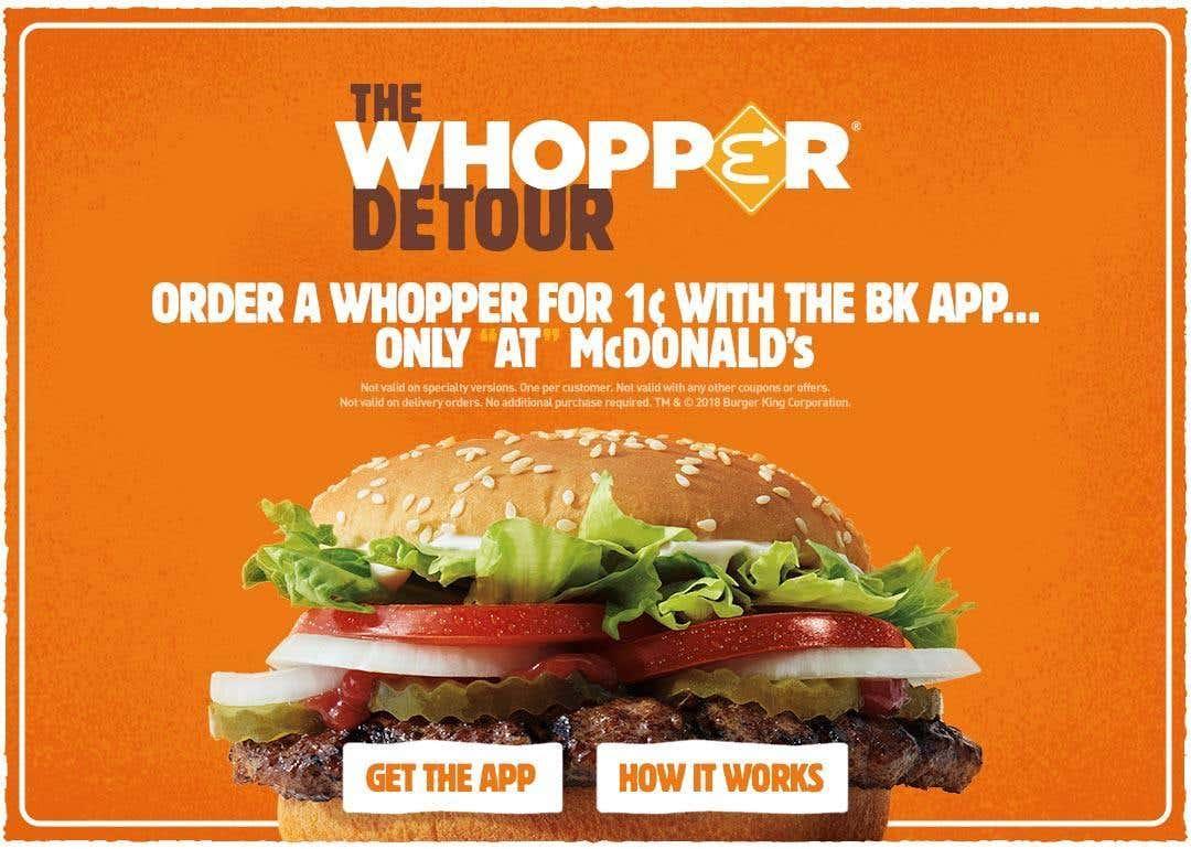 Whopper Detour ad