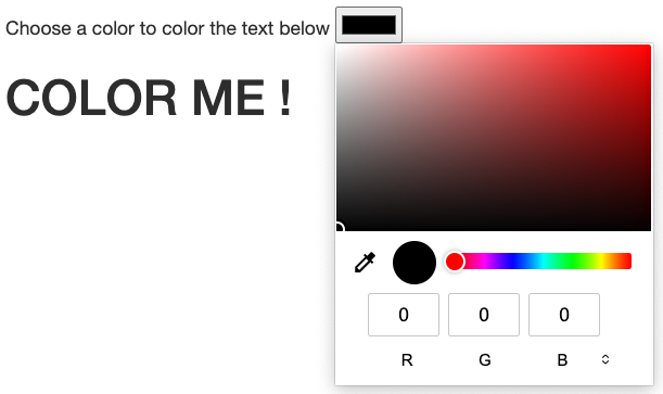 HTML color picker example