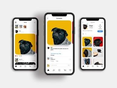 Dog Fashion + Social App Design
