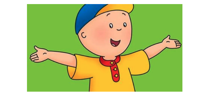 Lack of exaggeration in Caillou