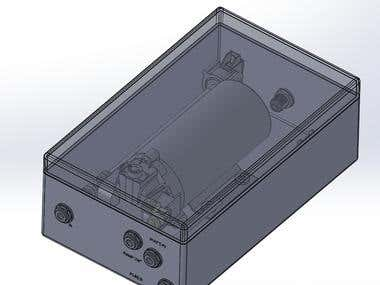 Pump system with combination valve and pressure switch, designed in SolidWorks