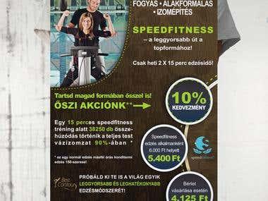 flyer design for speed fitness gym :)