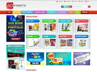 VirtueMart based Joomla E-commerce  Ads Store developed and customized by me. Site URL : http://www.adexperts.com.au/
