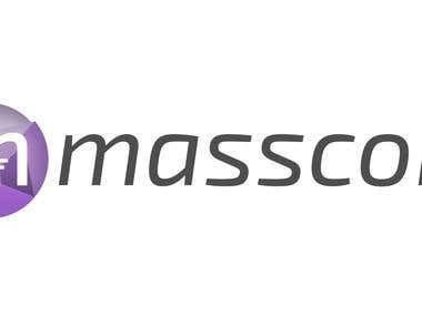 Sample logo designed for Masscoin - an upcoming cryptocurrency.