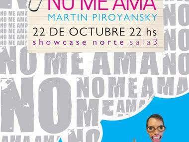 "Poster design for short film ""No Me Ama"""