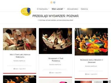 Project founded by Centrum Sztuki Dziecka in Poznan / Poland. I worked in the team with graphic designer. My goal was to implement layout and content to wordpress CMS, optimize SEO and customize plugin for event menagement.