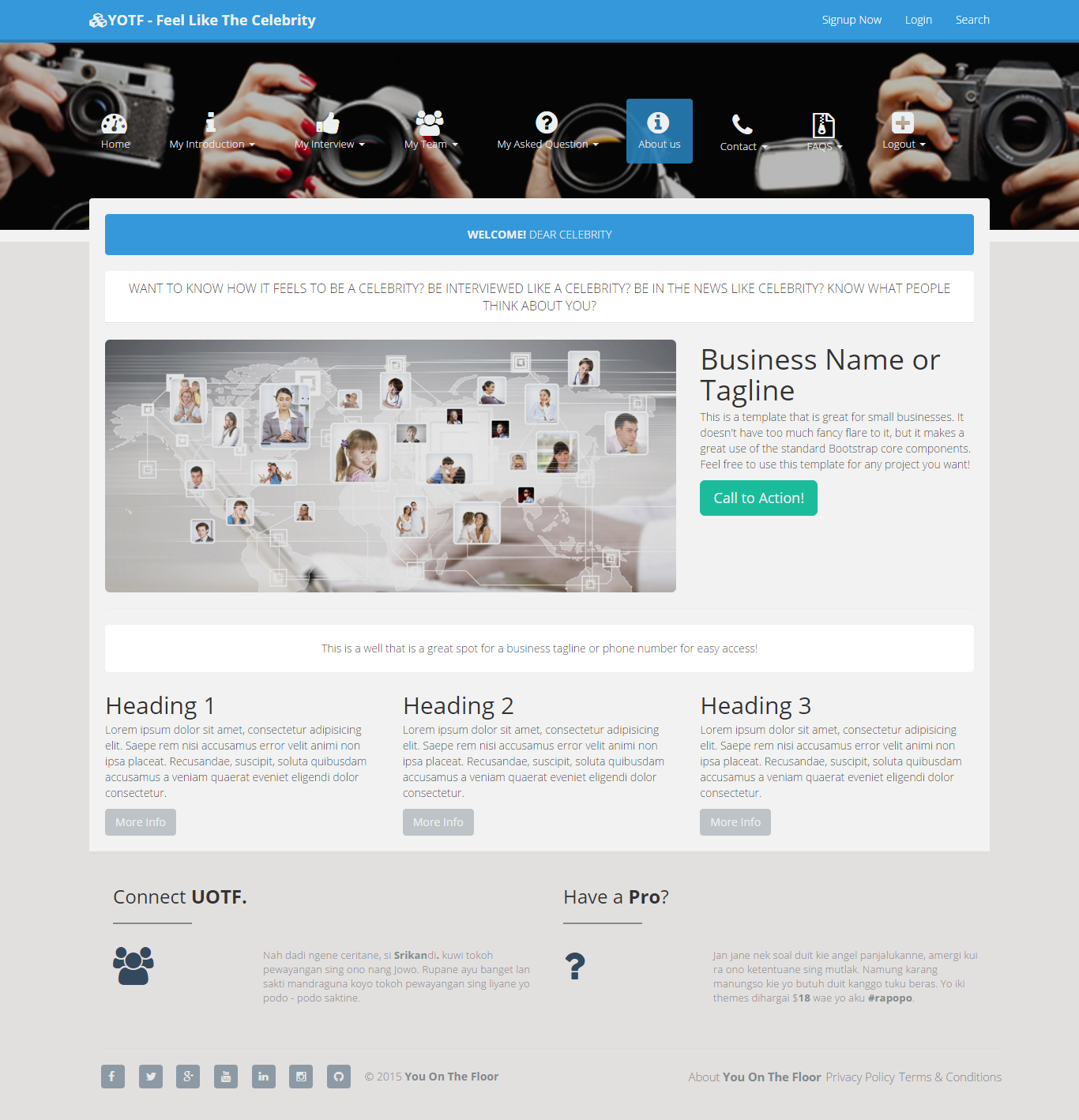 Social media, chat and interview and ask quistion  bootstrap , responsive and html5 animated site  backend asp.net c#.  admin panel , payment get way,