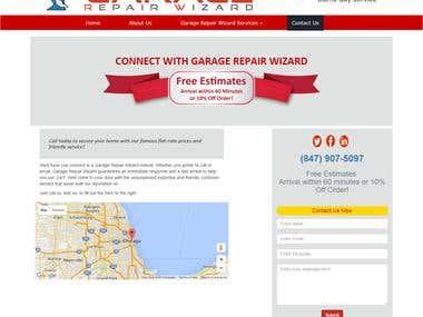 Garage Repair Wizard is custom site depend on client req. design.  client scratch site.  php, mysql , admin panel , dynamic site.  site : http://www.garagerepairwizard.com/  regular updated site