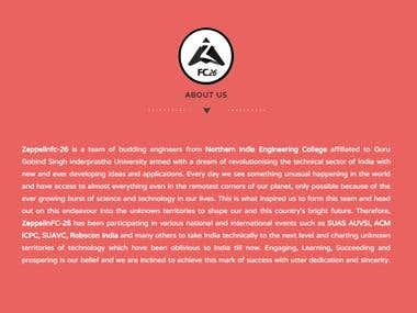 One page website made with bootstrap css 3d, html 5  and php