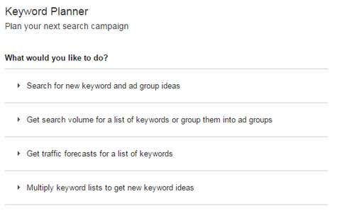 Blog Post Ideas using Google Keyword Planner