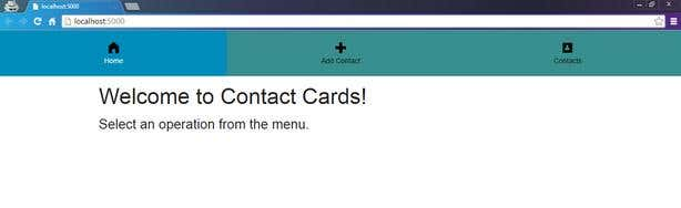 Contact Card Application
