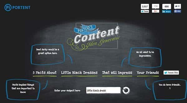 6 tools for creating fresh content freelancer blog for Portent idea