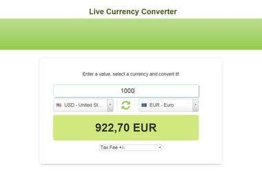 Live Currency Converter with Country Flags