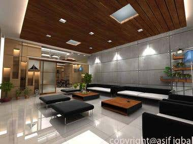 interior design and 3d modeling of an apartment