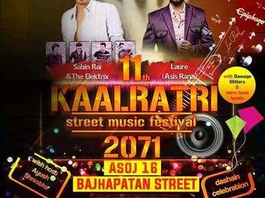 Kaalratri concert banner design