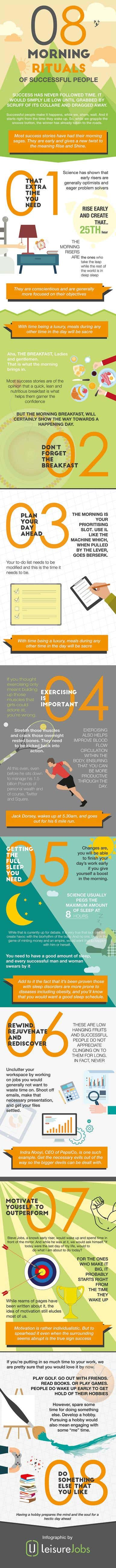 Infographic - 08 Morning rituals of successful people