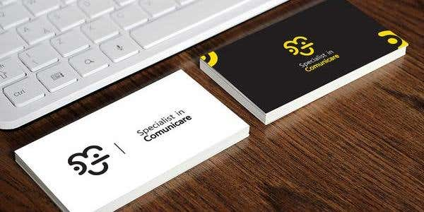 Minimalistic design for modern business card