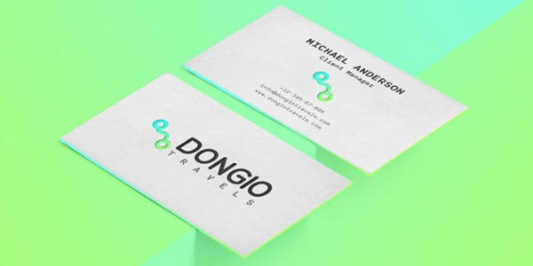 Neon design for modern business card