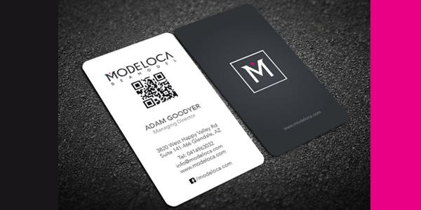 QR code design for modern business card