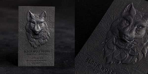 3D embossed design for modern business card