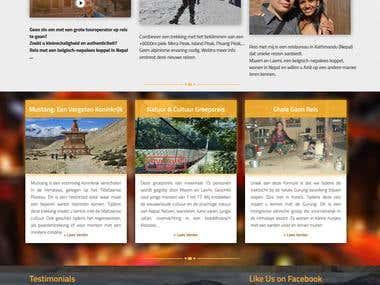It was built in wordpress. It is tours and travel website