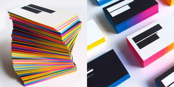 Colored edges design for modern business card