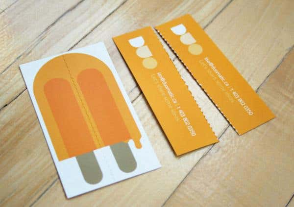 Tear-away design for modern business card
