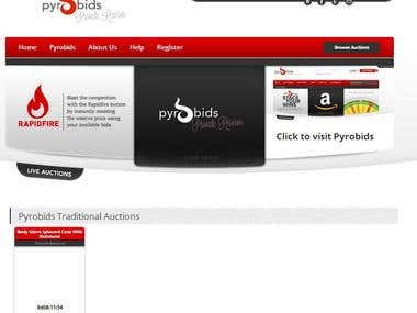 Pryrobidsr.com  Pyrobids reserve auction site with Games.