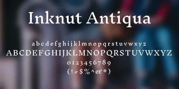 Inknut Antiqua Free Font
