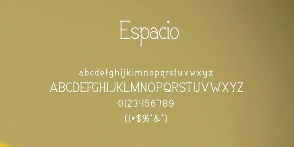 Espacio Free Font