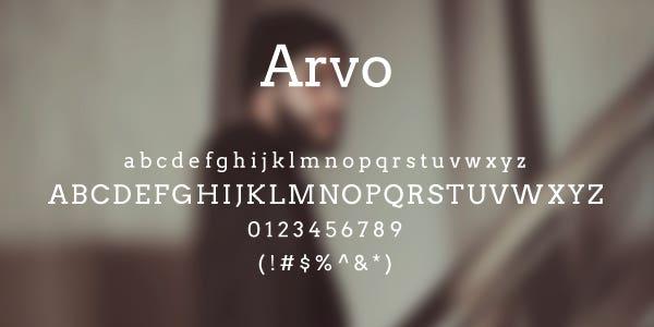 Arvo Free Font