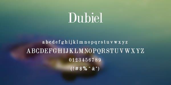 Dubiel Free Font