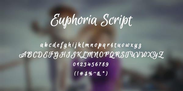 Euphoria Script Free Font