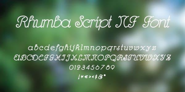 Rhumba Script NF Font Free Font