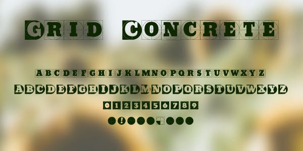 Grid Concrete Free Font